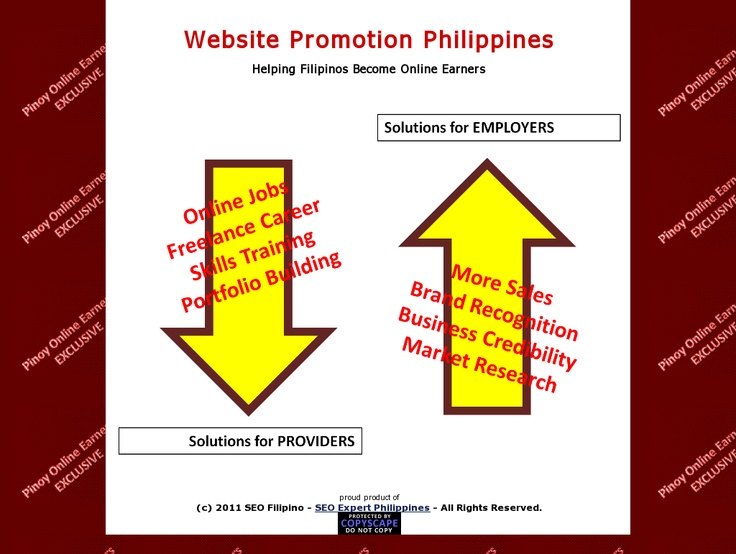 Filipinos learn and earn web-based promotions here! >> Website Marketing in the Philippines --> www.websitepromotionph.info