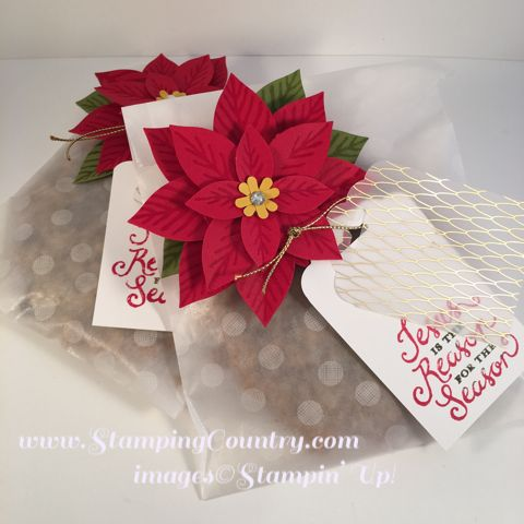 Reason for the Season, Holiday Gift Bag, Glassine Bags, Festive Flower Punch, Stampin' Up!