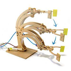 Hydraulic Fluid Powered Robotic Arm   ThinkGeek