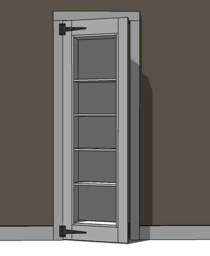 Inset Bookshelf Doorway