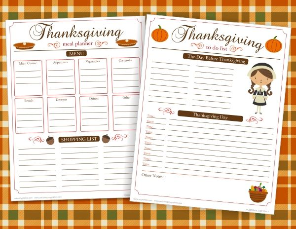 Candid image regarding thanksgiving menu planner printable