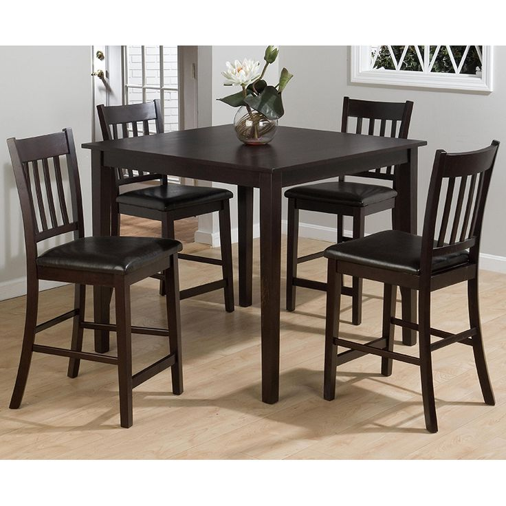 Marin County 5PC Counter Height Merlot Table Set