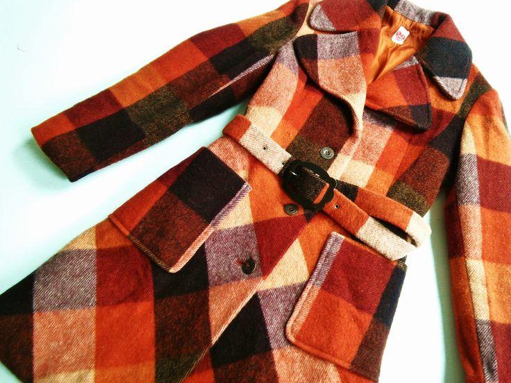 Vintage Kinderkleidung - WoLLManTel Xs 152/158 Wolle ViNtAge 70er ManTeL - ein Designerstück von LIEBKIND-bremen bei DaWanda