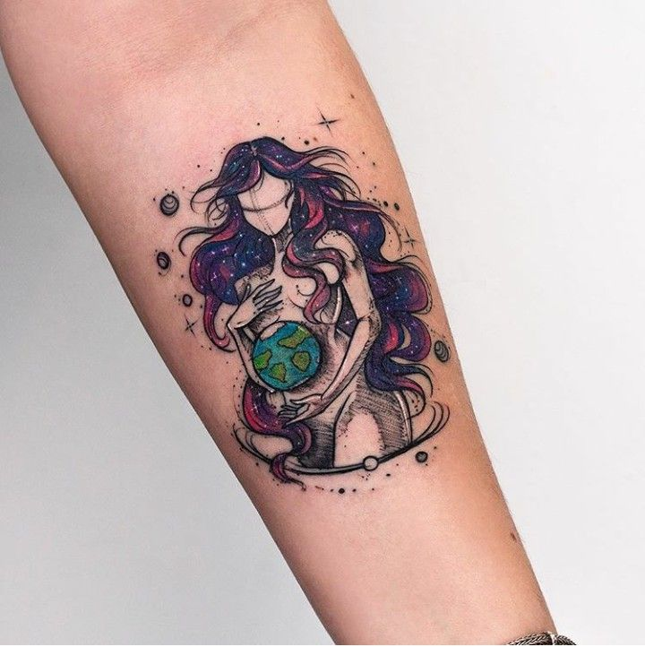 Beautiful Mother Earth Tattoo