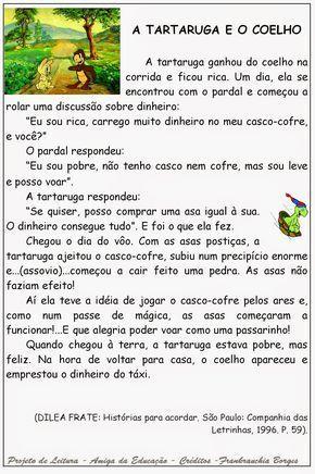 Atividade de leitura, interpretação. Projeto de leitura. Prática de leitura. Língua Portuguesa, Produção textual. Texto A tarta...