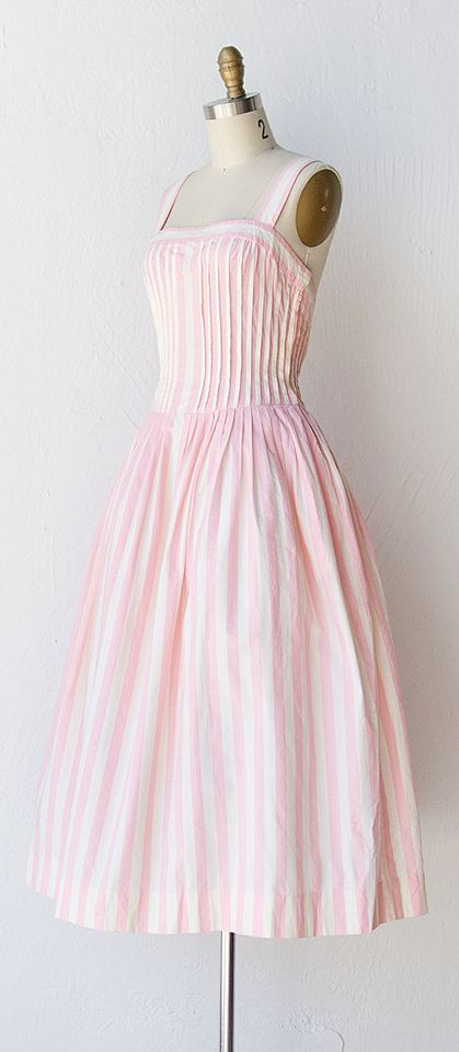 Vintage Fashion.....first dress I made in lavender stripes for important trip to horse races at 17 yrs. old.