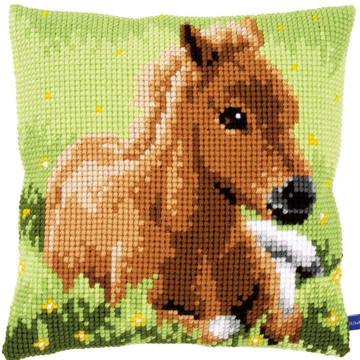 Brown Foal - Kruissteekkussen - Vervaco