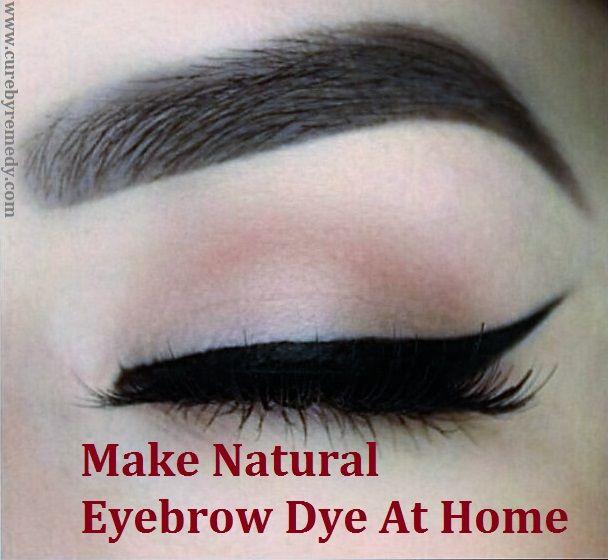 How To Make Natural Eyebrow Dye At Home