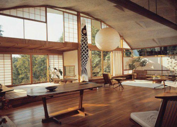 1000 id es propos de meubles en bois fonc sur for Meuble japonais bleu