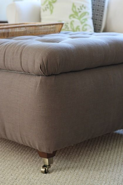 DIY ottoman with casters