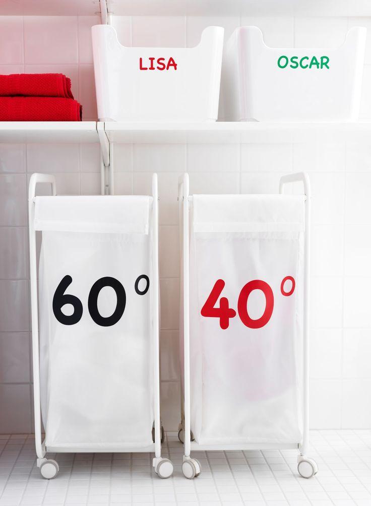 Nouvelle collection Ikea 2015 : des paniers à linge customisés / 2015 Ikea Catalog : custimized laundry baskets. Plus de photos sur Côté Maison http://petitlien.fr/7dwt
