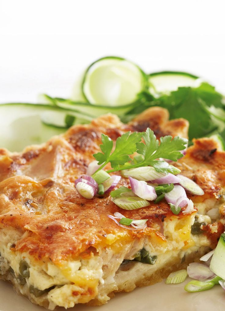 Idees Salmon, green bean and spring onion quiche » Idees