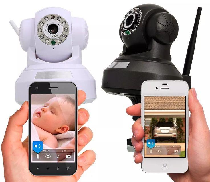 kit camera segurança ip wireless wifi p2p infra cartão 16gb