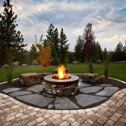 117 best backyard fire pits images on pinterest | backyard fire ... - Patios With Fire Pits Designs