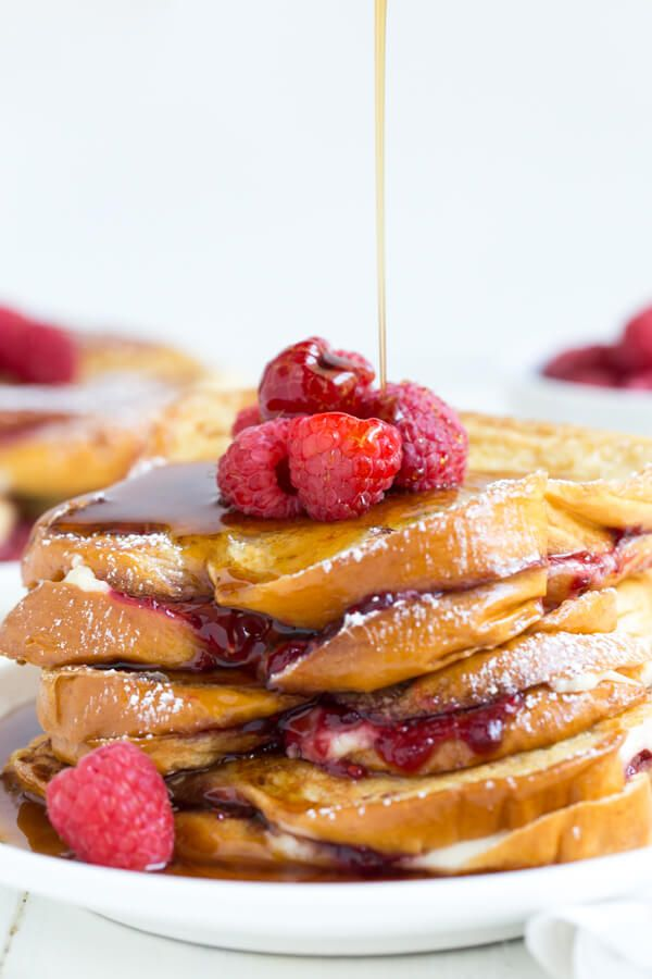 Raspberry Cheesecake Stuffed Brioche French Toast is a great idea for ...