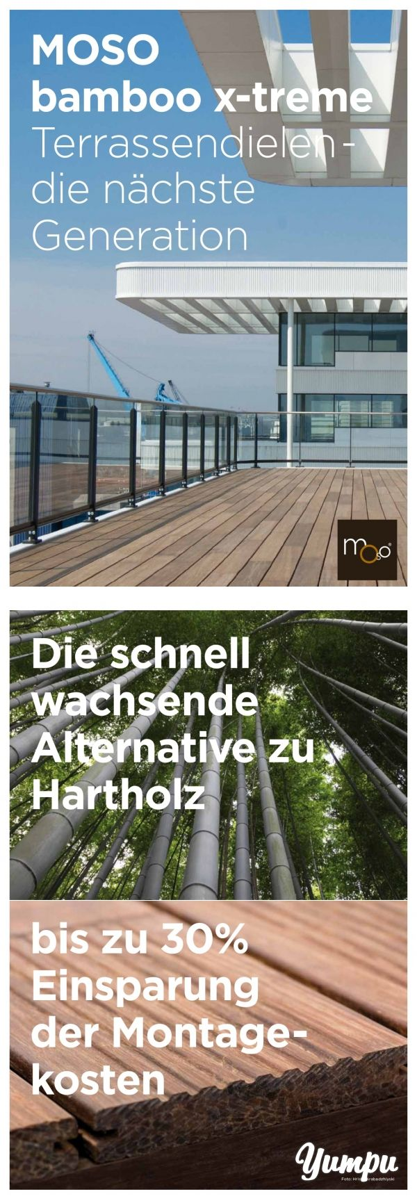 MOSO bamboo x-treme Terrassendielen - die nächste Generation - In diesem e-paper erfahren Sie alle Vorteile und ökologischen Aspekte zu Bambus Terrassendielen.