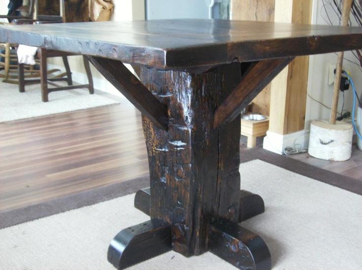 Barn Beam Pedestal Table