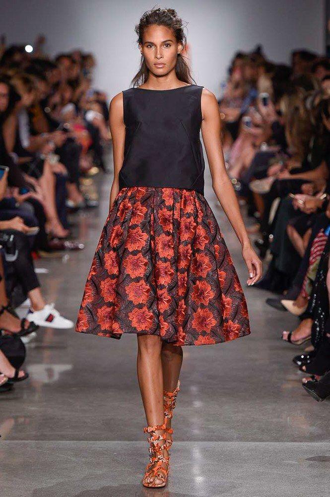Zac Posen Spring 2017 Ready-to-Wear Fashion Show - Cindy Bruna