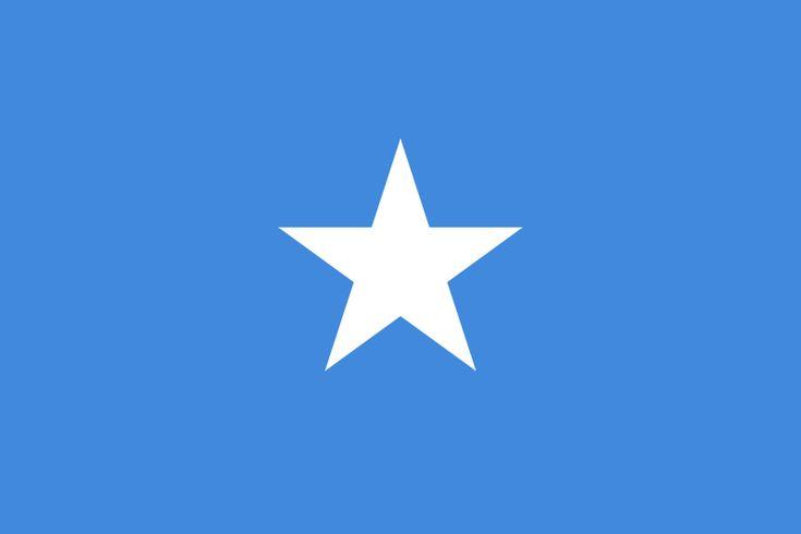 Bandera de la República Federal de Somalia.