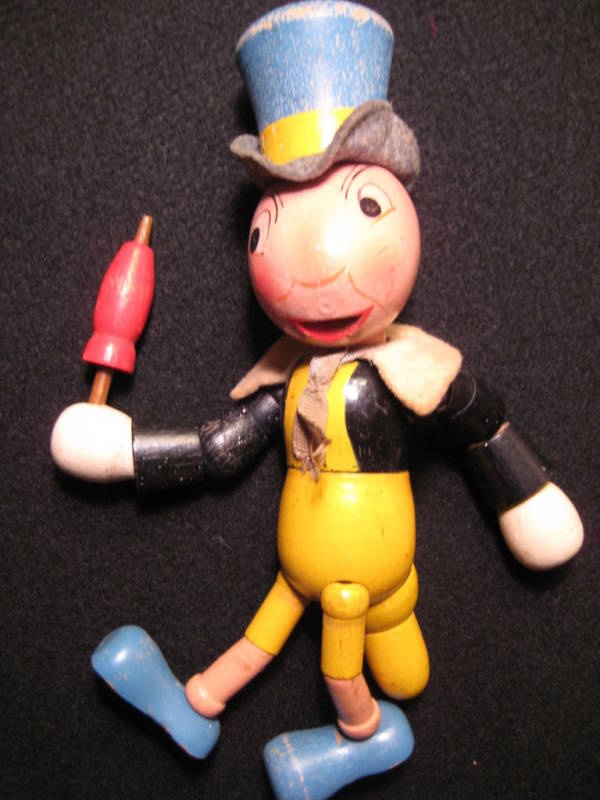 Antique Toy Original Disney Wooden Jiminy Cricket Doll | eBay