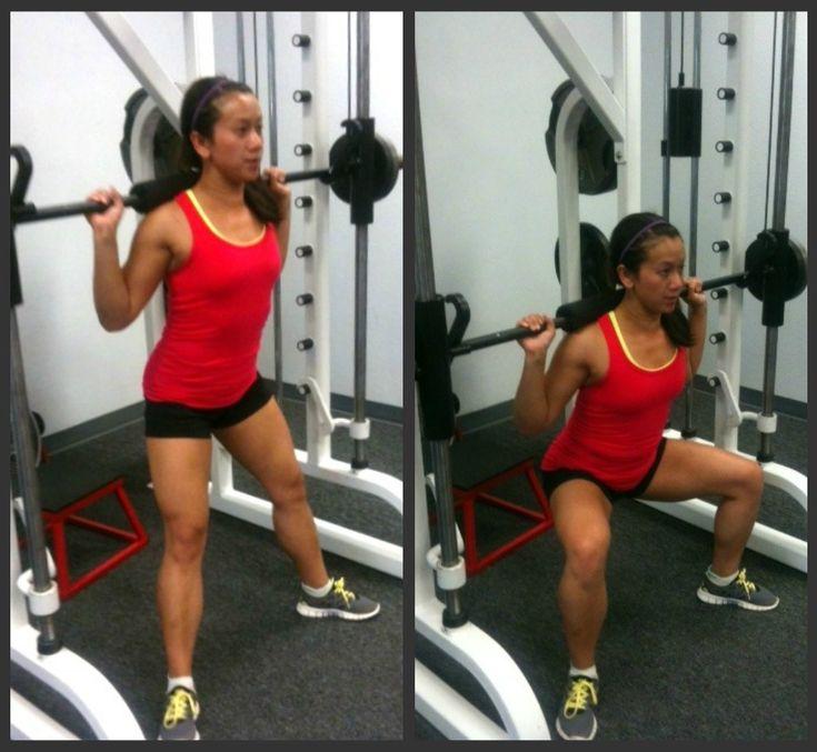 Smith Machine Box Squats Glutes Workout Fit Girl Motivation Best Workout Routine
