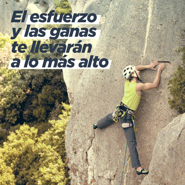 Sabes que solo hay una manera de lograrlo. Sigue subiendo y recuerda que... #decathlon #escalada #deporte