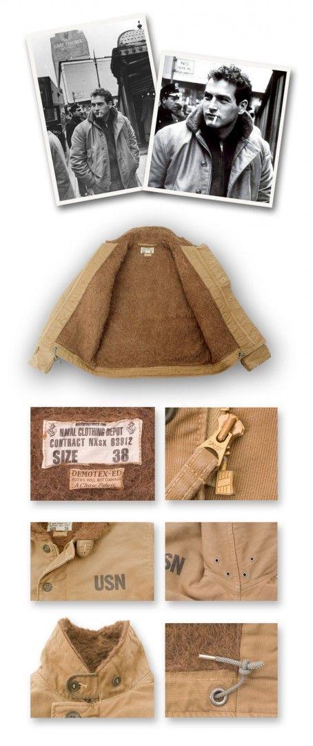 Buzz Ricksons Europe - Jackets : Type N-1 Deck, Khaki, Seawater Wash Work