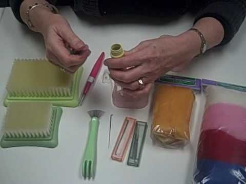 Carol Porter demonstrates some tips and tricks for Clover brand Needle Felting tools and Accessories