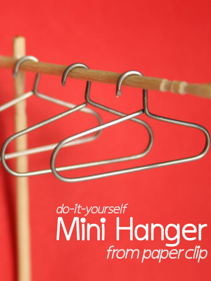 DIY: Mini Hanger https://goo.gl/5x6Aya