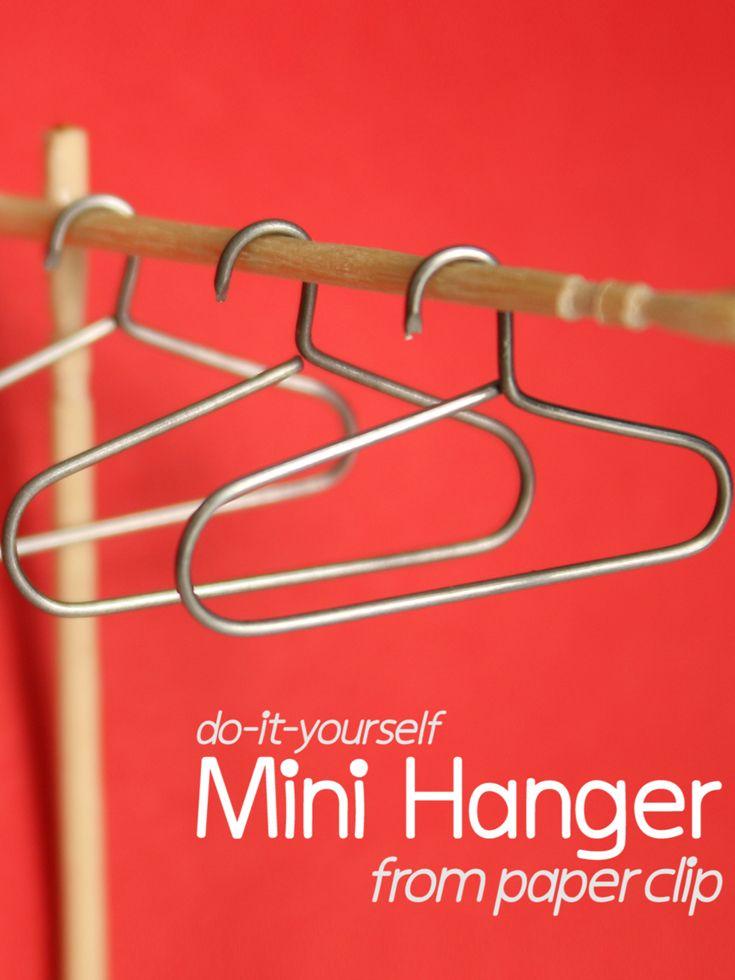 DIY: Mini Hanger https://goo.gl/5x6Aya