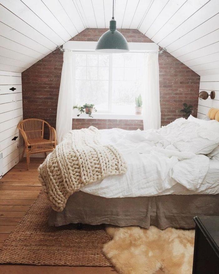 les 25 meilleures idées de la catégorie chambre avec mur blanc sur