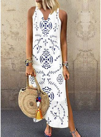 VERYVOGA Print Sleeveless Shift Maxi Casual/Vacation Dresses 2019 - #blue summer... 3
