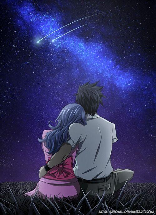 Gruvia-Tanabata   Arya [pixiv] http://www.pixiv.net/member_illust.php?mode=medium&illust_id=44599349