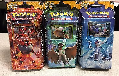 Pok mon Sealed Decks and Kits 183467: Lot 3 Pokemon Theme Decks Roaring Heat Forest Shadow Bright Tide Sun And Moon New -> BUY IT NOW ONLY: $30 on eBay!