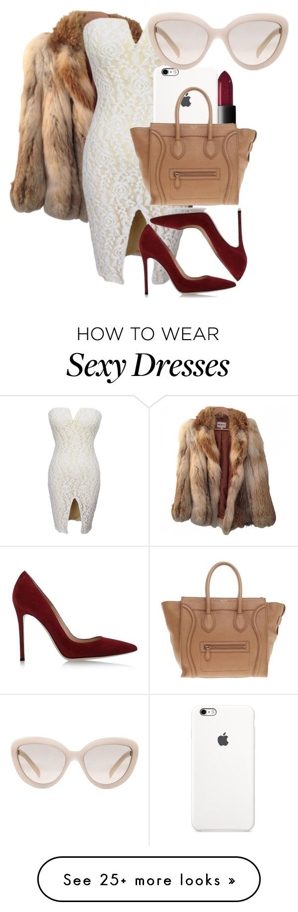 """Untitled #198"" by perfectlyebonix on Polyvore featuring American Retro, Gianvito Rossi, NARS Cosmetics, CÉLINE, Prada, women's clothing, women, female, woman and misses"