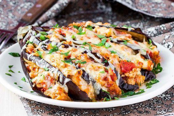 Fırında Tavuklu Patlıcan Tarifi