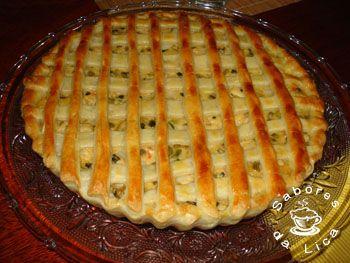 Torta de palmito com massa de iogurte no dia 26/01/2011