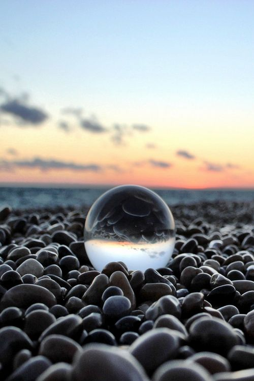 Chesil Orbe by Iain Webber. I love these crystal ball shots at the moment!