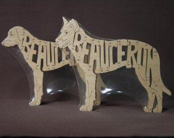Jouet en bois Puzzle animaux chien Beauceron