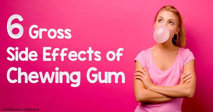 Before you reach for another stick of gum, consider these gross side effects chewing gum can cause.