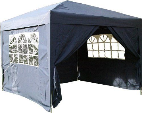 Airwave 3x3mtr Pop Up Waterproof Gazebo in in Blue with 2 WindBars and 4 Leg Weight Bags