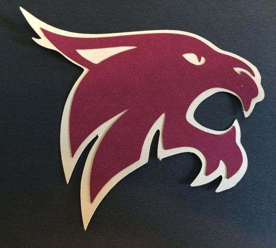 Texas State Bobcat Diecut/Cutouts for by LeslisDesigns on Etsy, $6.00