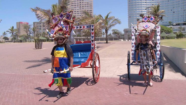 cool Pulling Rickshaws in South Africa