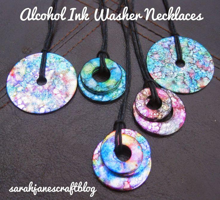 Vce ne 25 nejlepch npad na pinterestu na tma washer sarah janes craft blog crafting revisit alcohol ink washer necklaces aloadofball Choice Image