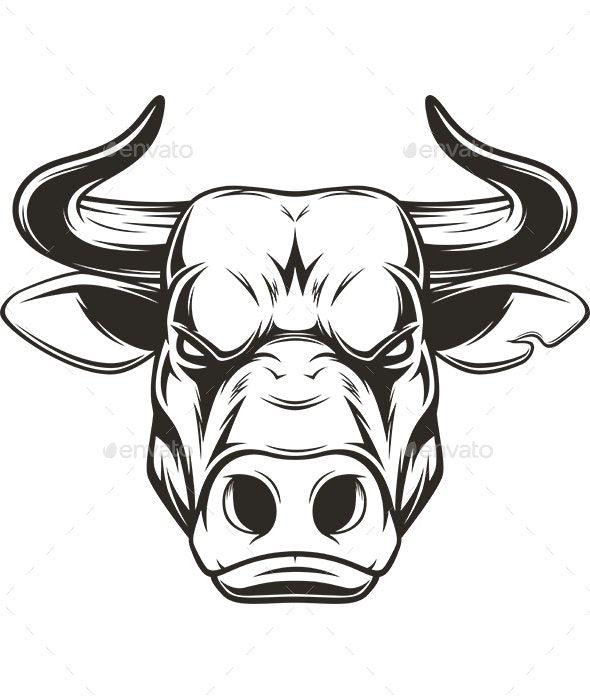 Bull Head Bull Art Bull Tattoos Animal Sketches