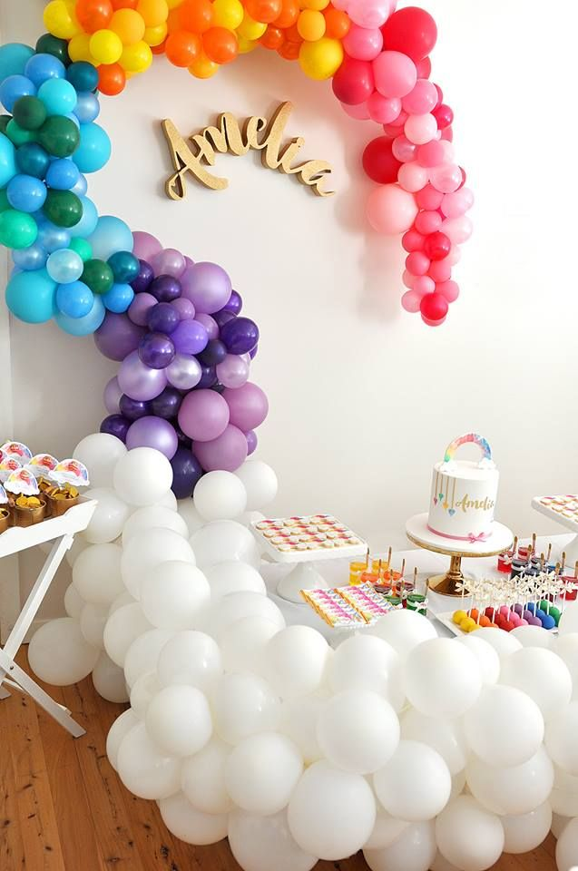 How amazing is this colourful balloon wall