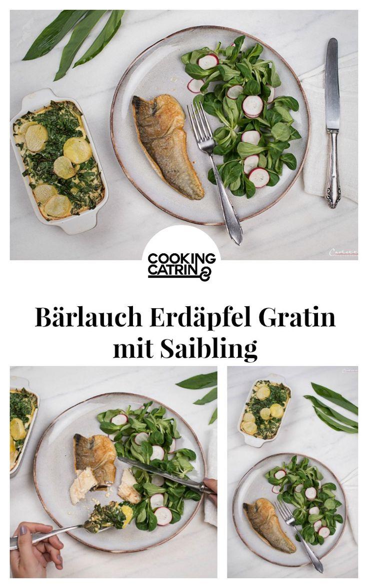 Bärlauch erdäpfel gratin, kartoffelgratin, saiblingsfilet, saibling, fisch gericht, lunch, dinner, abendessen, dinner healthy, healthy dinner, abendessen gesund, kartoffel rezept, potatoe garlic bake, potatoe bake, potatoe recipe, garlic recipe, bärlauch gratin...http://www.cookingcatrin.at/baerlauch-erdaepfel-gratin/