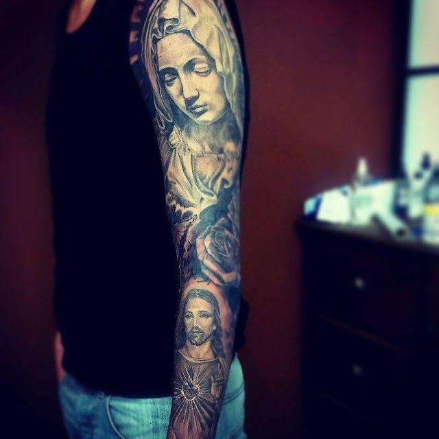 Religious Tattoo Sleeves on Pinterest | Tattoo sleves Cloud tattoo ...