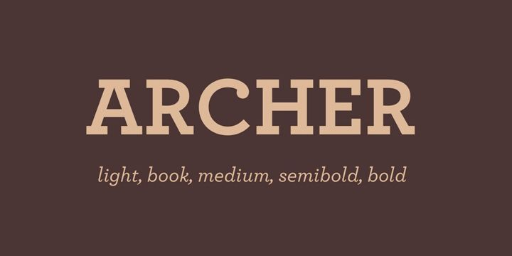 Archer Pro Font Family Free Download | project TSB | Archer font