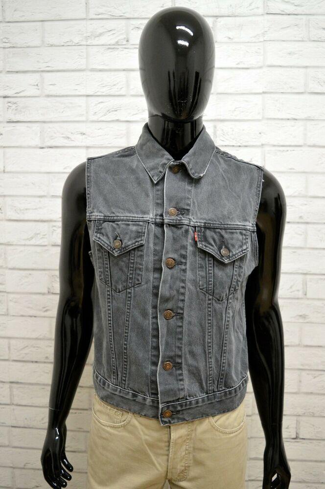 newest bf171 d79e5 Giubbino in Jeans LEVIS Uomo Taglia Size S Giubbotto ...